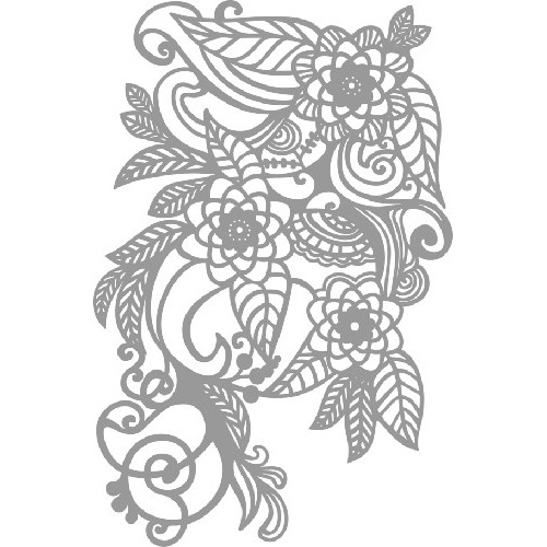 Art stencil - Dina4 zentangle