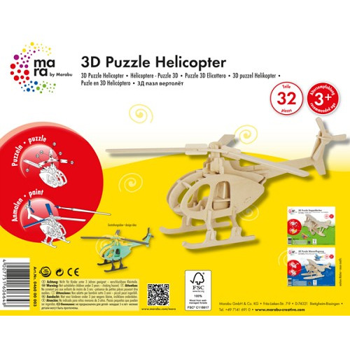 3D puzzle - Mara helikopter