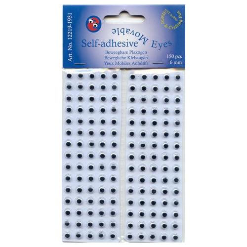 75 pr wiebel ogen 6 mm zelfklevend