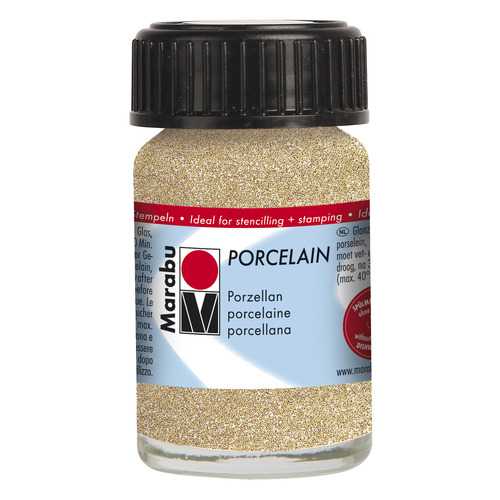 Porcelain 15 ml - Goud glitter