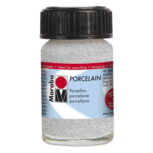Porcelain 15 ml - Zilver glitter