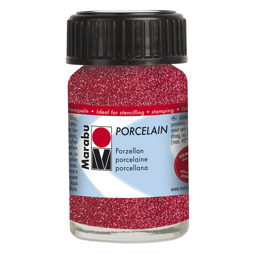 Porcelain 15 ml - Rood glitter