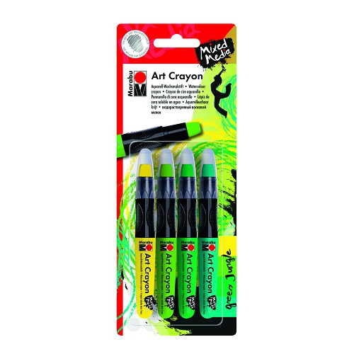 Art crayon - Set greenjungle 4x