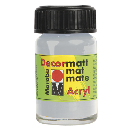 Decormatt acryl 15 ml - Zilver metallic