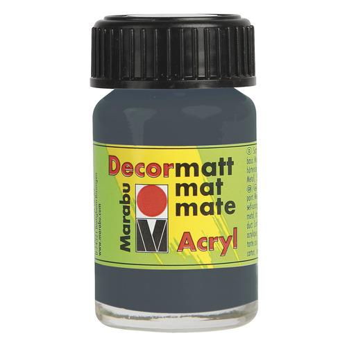 Decormatt acryl 15 ml - Donkergrijs