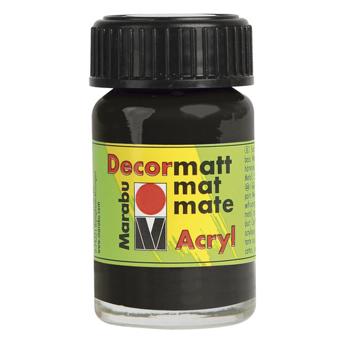 Decormatt acryl 15 ml - Zwart