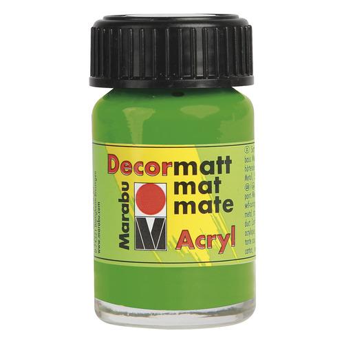 Decormatt acryl 15 ml - Geelgroen