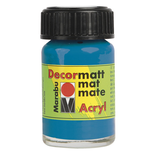 Decormatt acryl 15 ml - Cyaan
