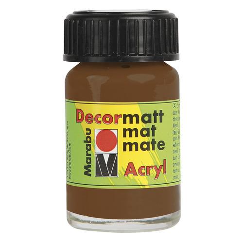 Decormatt acryl 15 ml - Lichtbruin
