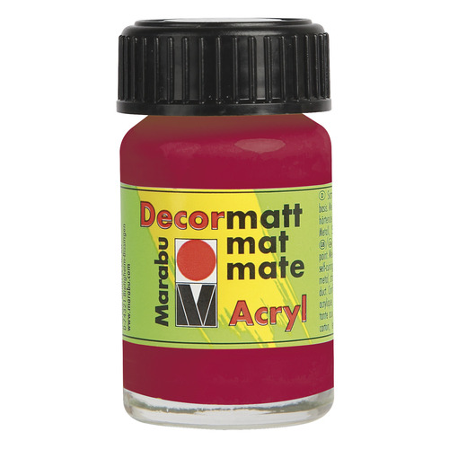 Decormatt acryl 15 ml - Karmijnrood