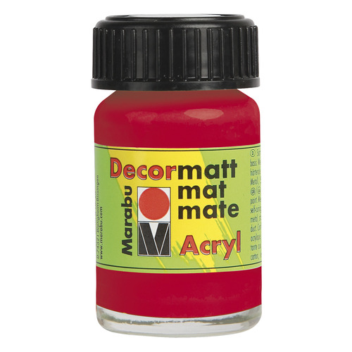 Decormatt acryl 15 ml - Kersenrood