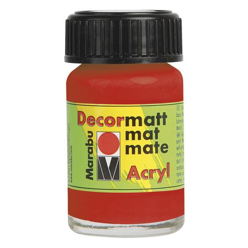 Decormatt acryl 15 ml - Licht vermiljoen