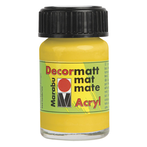 Decormatt acryl 15 ml - Middengeel