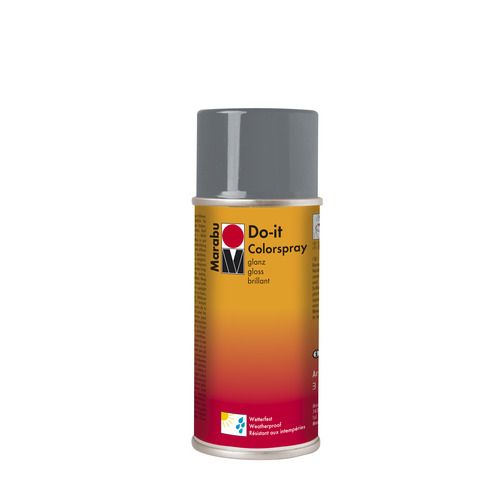 Do-it hoogglanzend  acrylverf spuitbus 150 ml - Grijs glanzend