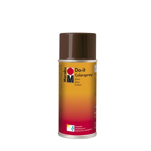 Do-it hoogglanzend  acrylverf spuitbus 150 ml - Donkerbruin glanzend
