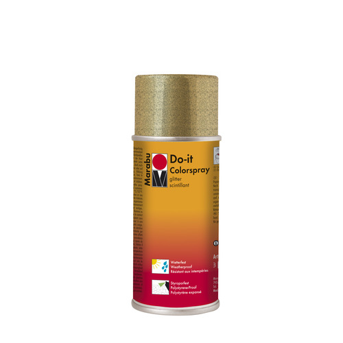 Do-it hoogglanzend acrylverf spuitbus 150 ml - Glitter goud