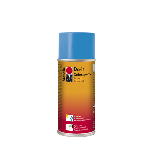 Do-it fluo acrylverf spuitbus 150 ml - Blauw fluo