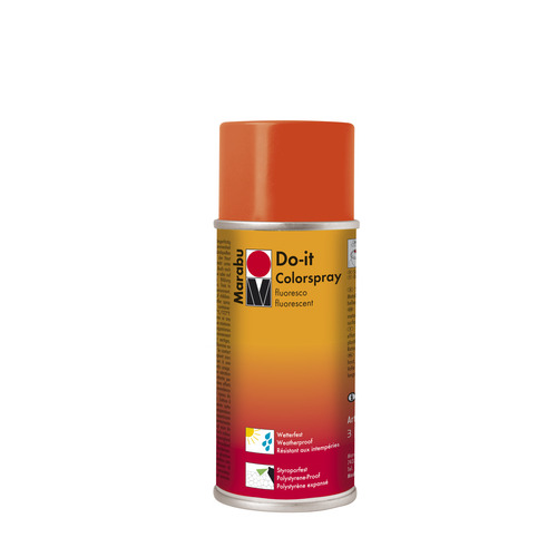 Do-it fluo acrylverf spuitbus 150 ml - Rood fluo