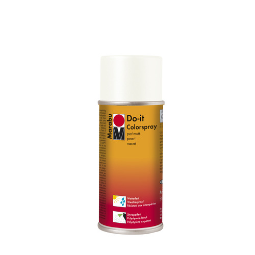 Do-it parelmoer acrylverf spuitbus 150 ml - Parelmoer wit