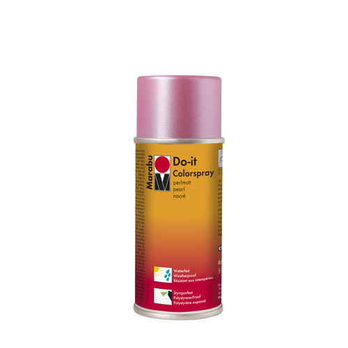 Do-it parelmoer acrylverf spuitbus 150 ml - Parelmoer roze