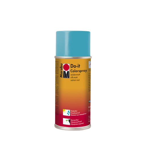 Do-it zijdematte acrylverf spuitbus 150 ml - Turkoois