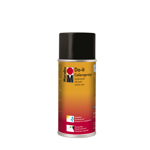 Do-it zijdematte acrylverf spuitbus 150 ml - Zwart