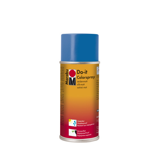 Do-it zijdematte acrylverf spuitbus 150 ml - Middenblauw