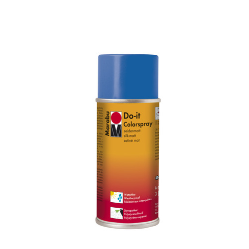 Do-it zijdematte acrylverf spuitbus 150 ml - Briljantblauw