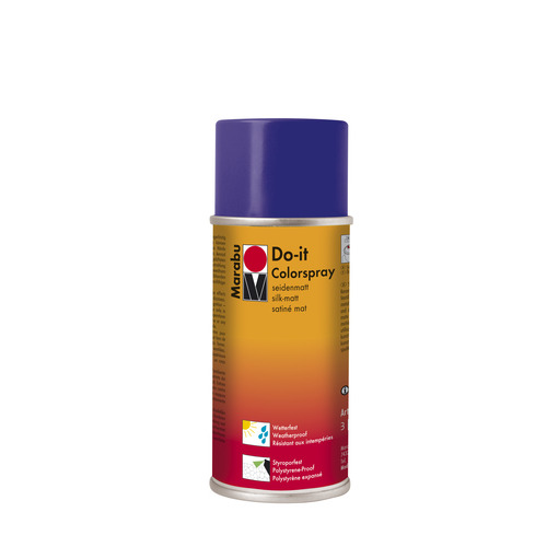 Do-it zijdematte acrylverf spuitbus 150 ml - Donker violet
