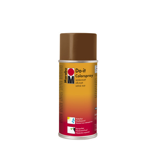 Do-it zijdematte acrylverf spuitbus 150 ml - Donkerbruin