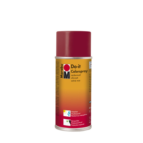 Do-it zijdematte acrylverf spuitbus 150 ml - Bordeaux