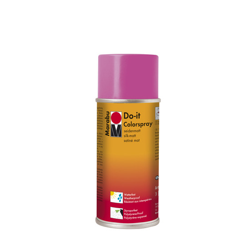 Do-it zijdematte acrylverf spuitbus 150 ml - Pink