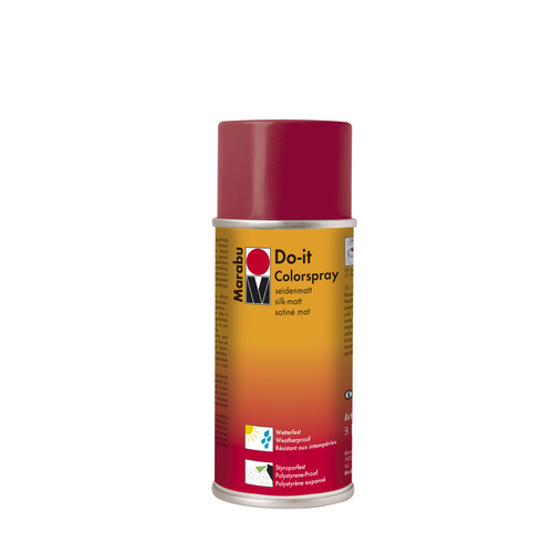 Do-it zijdematte acrylverf spuitbus 150 ml - Karamijnrood