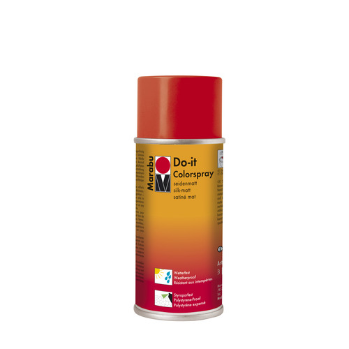 Do-it zijdematte acrylverf spuitbus 150 ml - Robijnrood