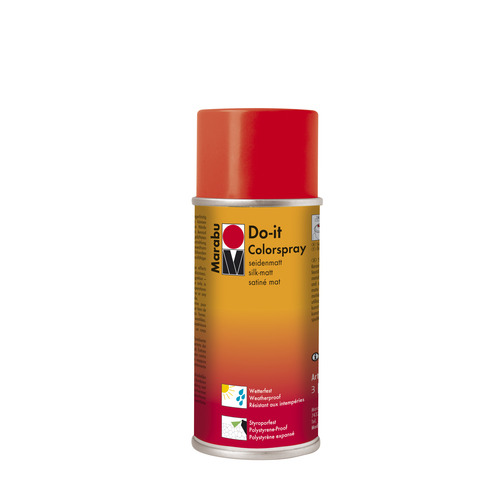 Do-it zijdematte acrylverf spuitbus 150 ml - Licht vermiljoen