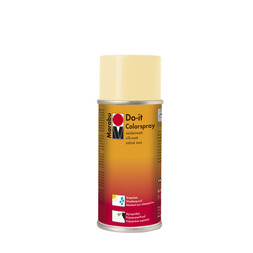 Do-it zijdematte acrylverf spuitbus 150 ml - Beige