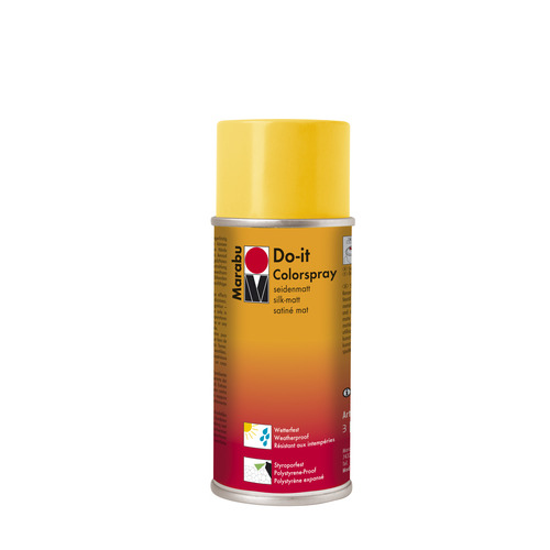 Do-it zijdematte acrylverf spuitbus 150 ml - Geel