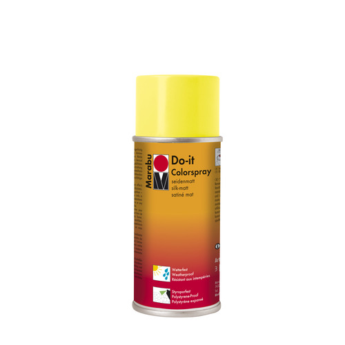 Do-it zijdematte acrylverf spuitbus 150 ml - Citroen