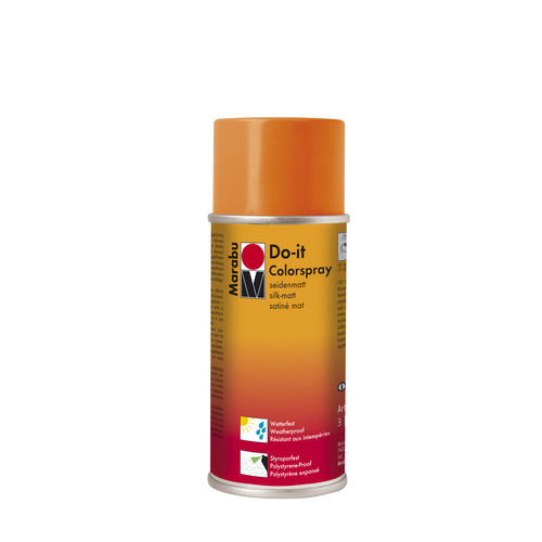 Do-it zijdematte acrylverf spuitbus 150 ml - Oranje