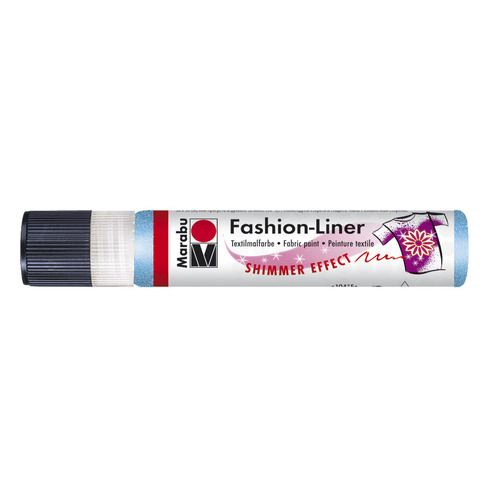 Marabu fashion liner 25 ml - Hemelsblauw glitter 595