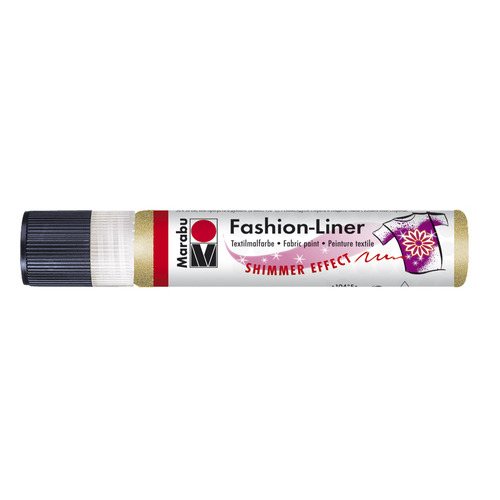 Marabu fashion liner 25 ml - Goud glitter 583