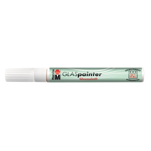 Glas painter 3-4mm - Wit