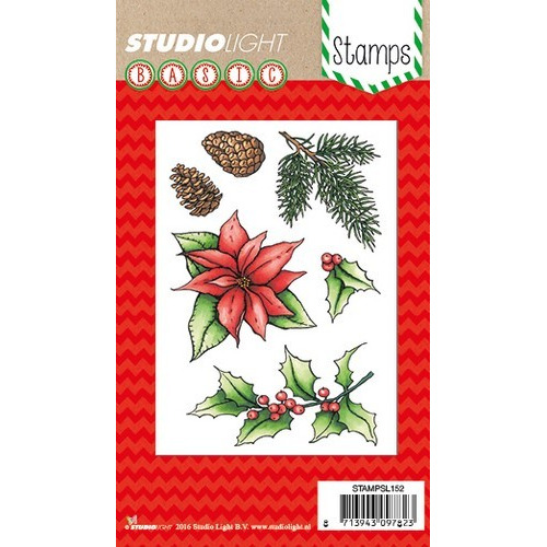 Studio Light Clearstempel A6 Kerstster nr 152 STAMPSL152 (11-16)