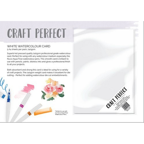 Tonic Studios Craft Perfect - Water colour card 5 vel 9565E A4 240grm (11-16)