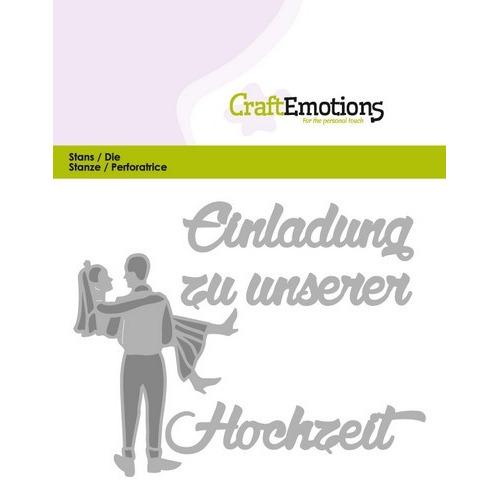 CraftEmotions Die Tekst - Einladung Hochzeit (DE) Card 11x9cm (01-17)