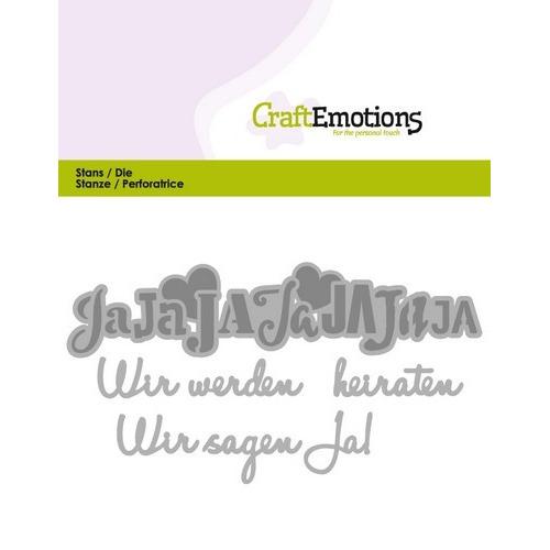CraftEmotions Die Tekst - Wir werden heiraten (DE) Card 11x9cm (01-17)