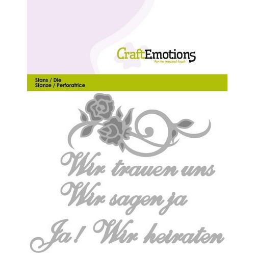 CraftEmotions Die Tekst - Wir trauen uns (DE) Card 11x9cm (01-17)