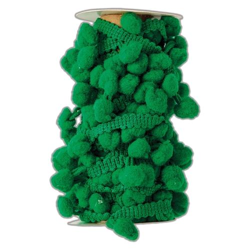Pom Pom Trim (3m) - Green