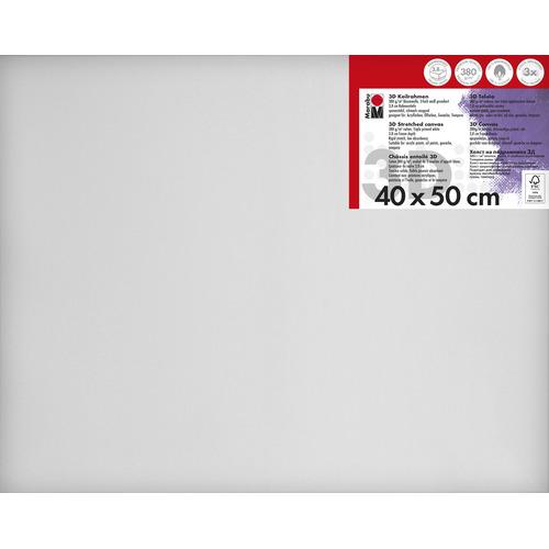 Schildersdoek 3d 40 x 50 x 3,8cm, 380 g/m²
