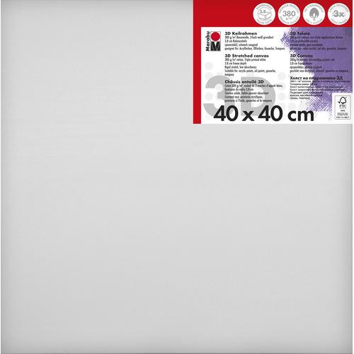 Schildersdoek 3d 40 x 40 x 3,8cm, 380 g/m²